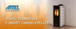 Offerta stufa a pellet Artel Easy 4 a rate da 39 euro al mese e pellet Krone certificato